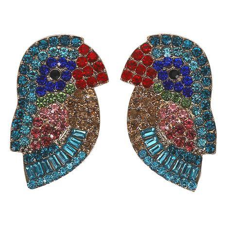 Feminine / Zodiac Parrot Alloy Rhinestone Earrings NHJQ125628's discount tags