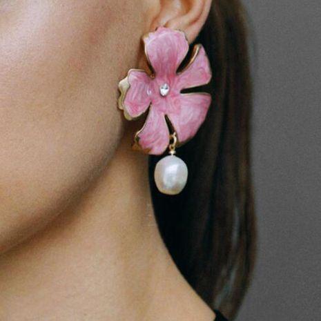 Womens Flower Alloy Imitation Rhinestone Imitation Beads Earrings NHMD125633's discount tags