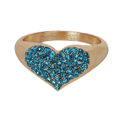 Couple-style rhinestone-studded raised circle-studded alloy Rings NHJQ125645's discount tags