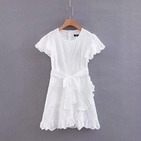 Spring full lace white dress NHAM125706