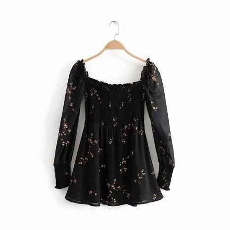 Slim-fit slim off-the-shoulder plum blossom dress NHAM125734's discount tags