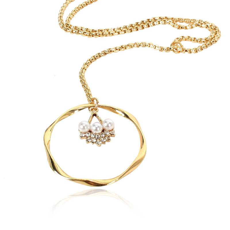 Womens Floral Electroplated Aluminum Necklaces NHCT125942