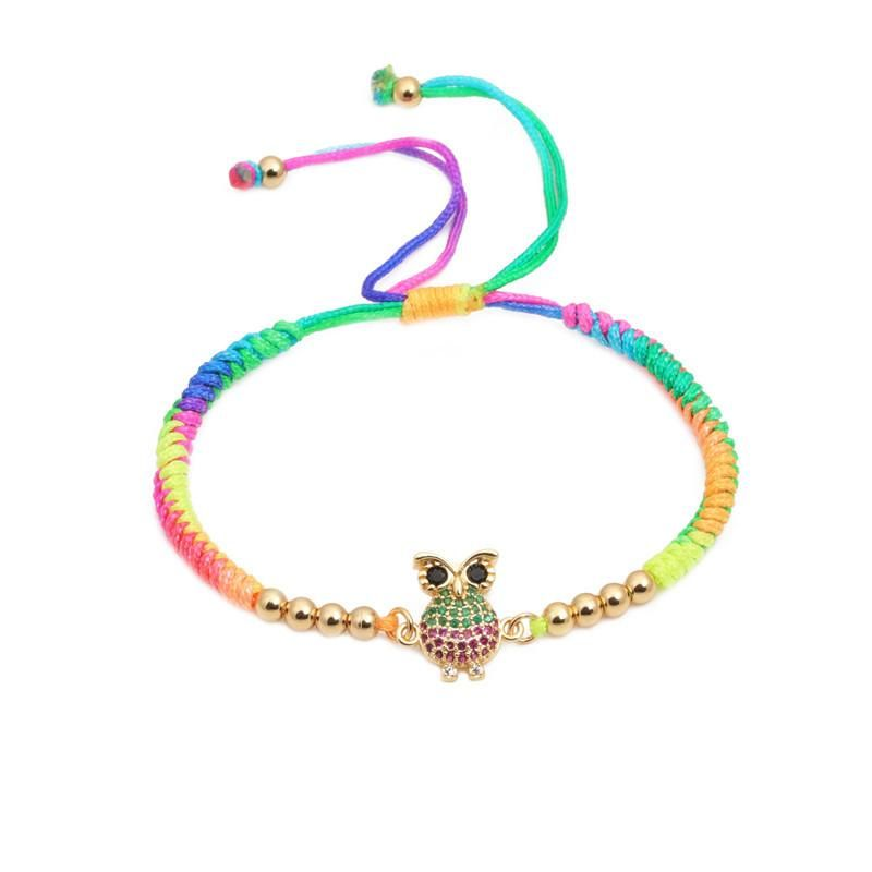 Microset color zircon weave Copper Bracelets amp Bangles NHYL125996