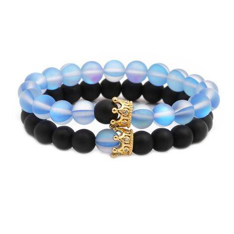 Unisexe Couronne Bracelets et bracelets en cuivre en pierre naturelle NHYL126012's discount tags