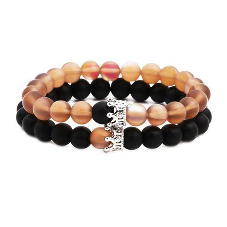 Unisexe Couronne Bracelets et bracelets en cuivre en pierre naturelle NHYL126013's discount tags