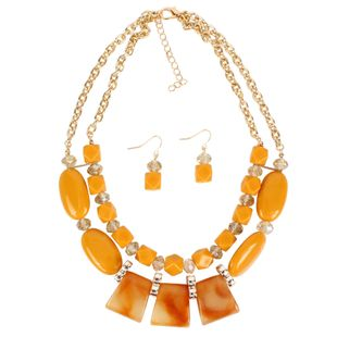 Womens Geometric Plastic Acrylic Necklaces NHCT126016's discount tags
