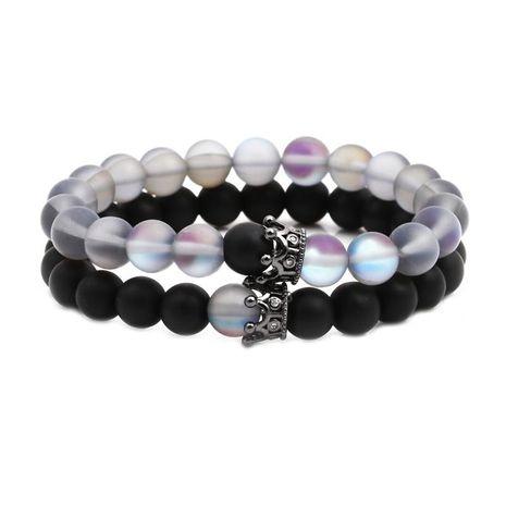 Unisexe Couronne Bracelets et bracelets en cuivre en pierre naturelle NHYL126018's discount tags