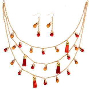 Womens teardrop shaped aluminum chain Necklaces aluminum chain Necklaces NHCT126021's discount tags