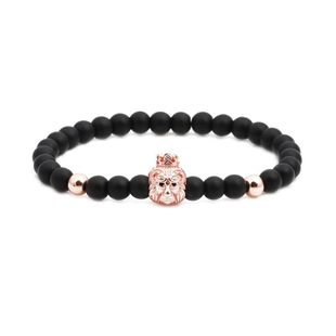Unisex lion head Natural stone copper Bracelets & Bangles NHYL126024's discount tags
