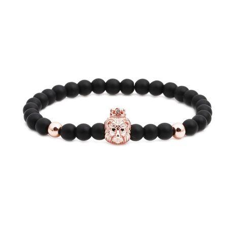 Tête de lion unisexe Bracelets et bracelets en cuivre en pierre naturelle NHYL126024's discount tags