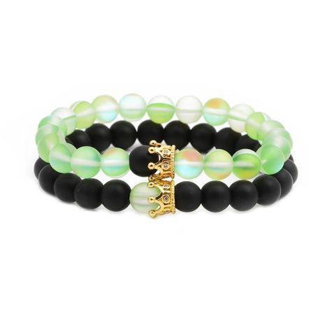 Unisexe Couronne Bracelets et bracelets en cuivre en pierre naturelle NHYL126027's discount tags