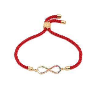 Micro-set color zircon adjustable 8 word bracelet NHYL126026's discount tags