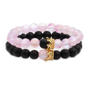 Unisex Crown Copper  Natural stone Bracelets & Bangles NHYL126028's discount tags