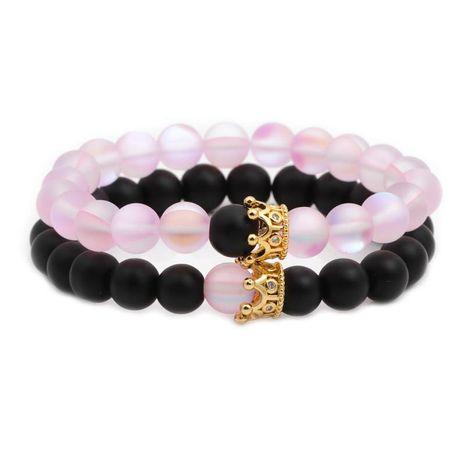 Unisexe Couronne Cuivre Bracelets et Bracelets en pierre naturelle NHYL126028's discount tags