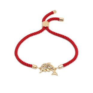 Micro-set color zircon dolphin jellyfish adjustable bracelet NHYL126030's discount tags