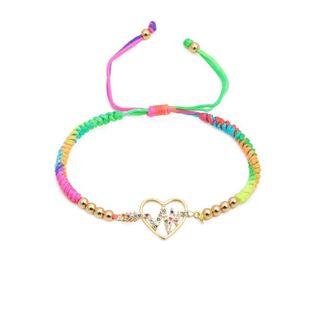 Unisex Color woven adjustable DIY Bracelets & Bangles NHYL126042's discount tags