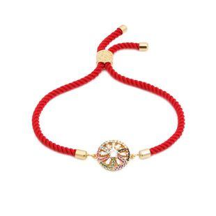 Color zircon LOVE adjustable bracelet NHYL126043's discount tags