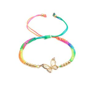Micro-set color zircon woven butterfly bee bracelet NHYL126046's discount tags