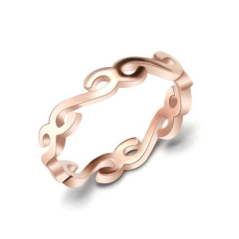 Fashion character connected S-tail titanium steel ring NHOK126048's discount tags