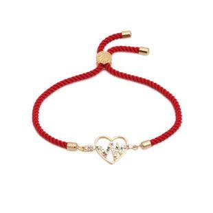 Color zircon adjustable bracelet NHYL126050's discount tags