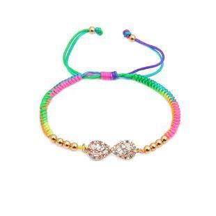 Color woven adjustable DIY bracelet NHYL126052's discount tags