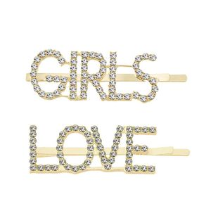 Womens Simple alloy rhinestone letters Plating Alloy Hair Accessories NHHN126054's discount tags