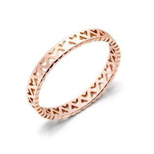 Anillos de acero titanium del amor del hueco de la galjanoplastia geométrica de las mujeres NHOK126055