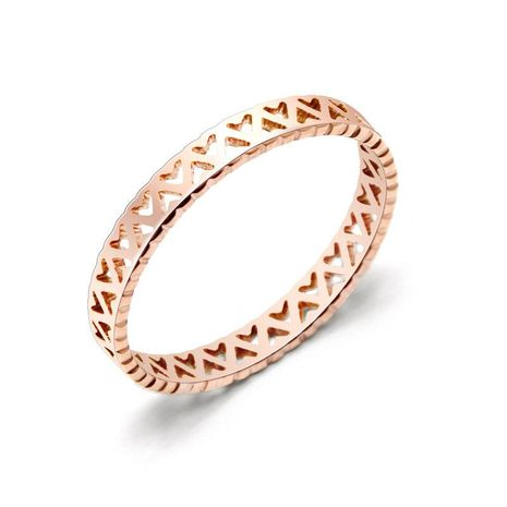 Womens Geometric Plating Hollow love titanium steel Rings NHOK126055's discount tags