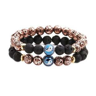 Unisex Natural stone plating copper Bracelets & Bangles NHYL126057's discount tags