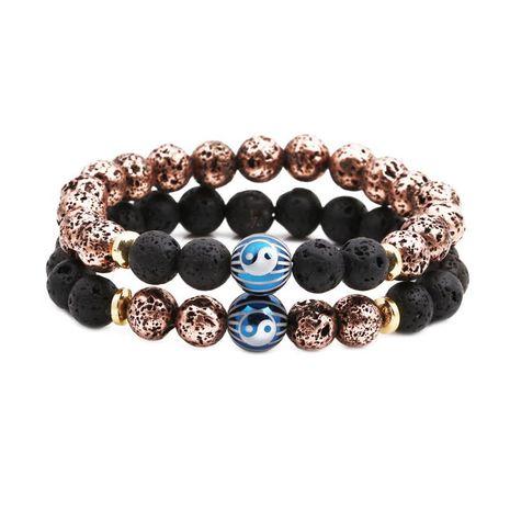 Bracelets et bracelets unisexes en cuivre plaqué de pierre naturelle NHYL126057's discount tags