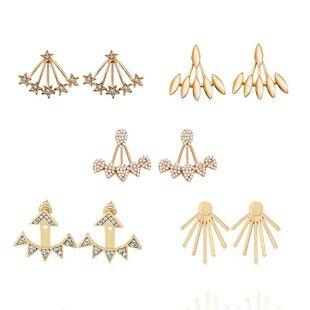 Womens Water Drop Full Rhinestone Plating Alloy Earrings NHHN126059's discount tags
