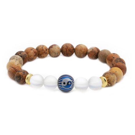 Bracelets et bracelets en cuivre avec perles en pierre de carte unisexe NHYL126064's discount tags