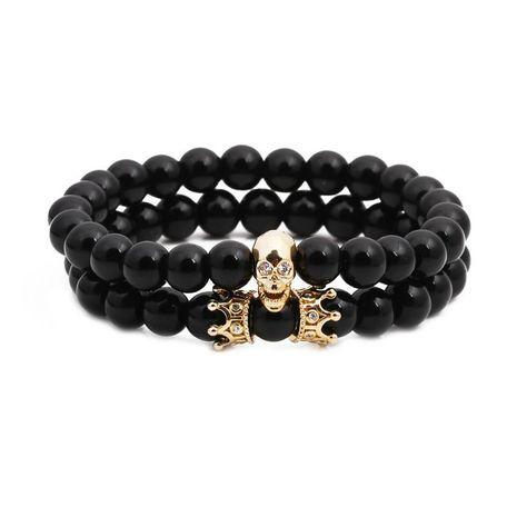 Unisexe Ghost Head Bracelets et bracelets en cuivre en pierre naturelle NHYL126070's discount tags