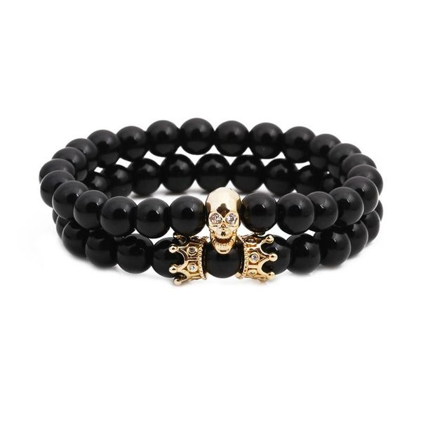 Unisex Ghost Head Natural stone Copper Bracelets & Bangles NHYL126070