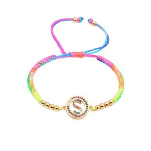 Unisex Letters Color weave adjustable DIY Copper Bracelets & Bangles NHYL126072's discount tags