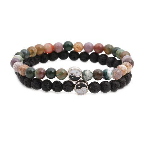 Bracelets et bracelets unisexes en cuivre, potins en pierre volcanique NHYL126074's discount tags
