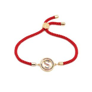 Unisex Milan red line color zircon Copper Bracelets & Bangles NHYL126075's discount tags
