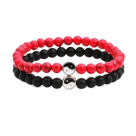 Bracelets et bracelets unisexes en cuivre noir mat NHYL126078's discount tags