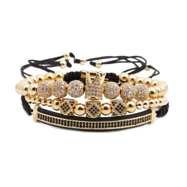 Unisex Crown 6 rhinestone crowns Copper Bracelets & Bangles NHYL126080