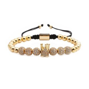 Unisex Crown Weaving Copper Bracelets & Bangles NHYL126081's discount tags