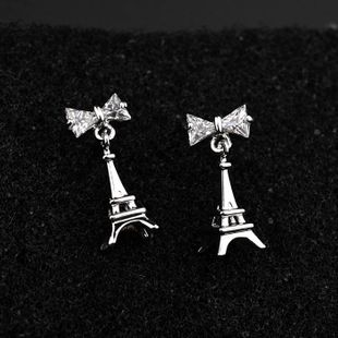 Womens Bow Plating Alloy Earrings NHLJ126085's discount tags