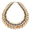 Womens Ushaped plated aluminum Necklaces NHCT125945