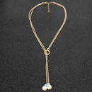 Womens Geometry Electroplated Aluminum Necklaces NHCT125950