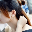 Womens Ushaped titanium steel Earrings NHOK125987