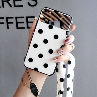 Polka Dot Mirror Glass iPhoneXs max Phone Case NHJP126235 For iPhoneXs's discount tags