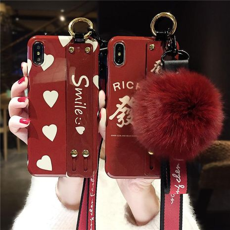 Wine red love wristband for xs max mobile phone case bracket NHJP126244's discount tags