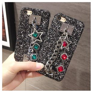 Europe and the United States iPhone7 black diamond bracelet 6plus protective cover NHJP126257For iPhone7's discount tags