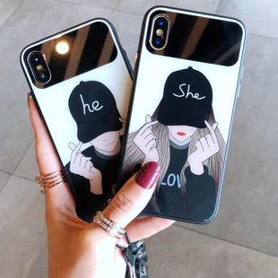 Mirror iphoneXsmax glass phone case NHJP126265 For iPhoneXs's discount tags