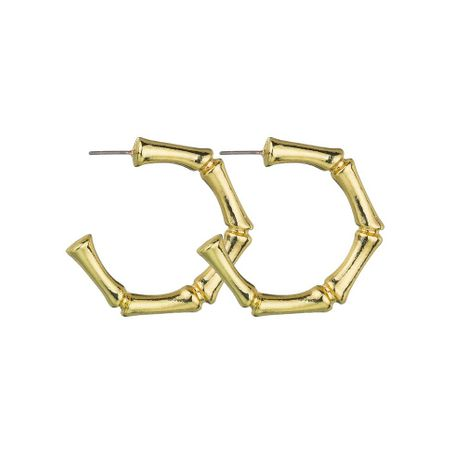 Fashion simple C-shaped bamboo alloy retro earrings NHBQ130339's discount tags
