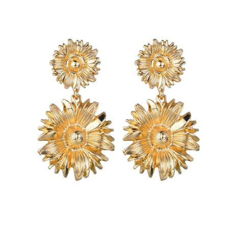 Womens Flower Plating Alloy Earrings NHBQ130349's discount tags